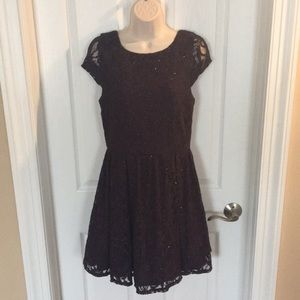 Speechless deep purple lace dress, Jrs 11